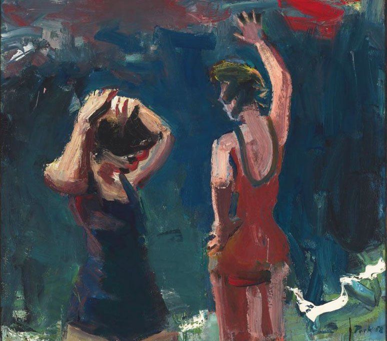 """""""Two Bathers"""" by David Park"""